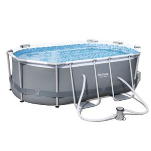 BESTWAY Kit Piscine ovale Power Steel Frame Pools - 3x2x0,84m