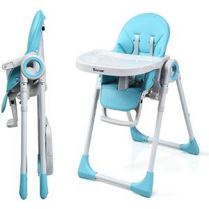 CHAISE HAUTE  Chaise Haute Bébé Pliable 2 en 1 en Plastique Haut