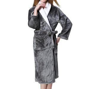 PEIGNOIR Gris L Peignoir de Bain Homme et Femme Robes de SP