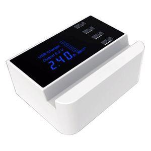 CHARGEUR TÉLÉPHONE FISHTEC® Chargeur Multi USB 4 Ports - Ecran LCD Ré