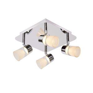 PLAFONNIER Plafonnier 4 spots Led orientables XANTO-LED argen