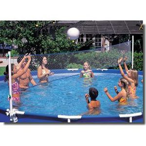 Filet volley piscine tubulaire ronde 5 49 9 76 m achat vente jeux de piscine filet de - Filet de volley pour piscine ...