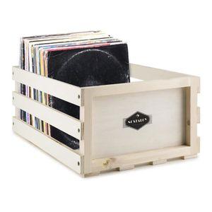 POCHETTE VINYLE Nostalgie by auna Record Box WD Coffret disques vi