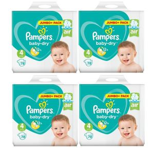 COUCHE Pampers Baby Dry Taille 4 Maxi 9-14kg Jumbo Plus P