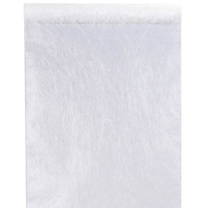 CHEMIN DE TABLE JETABLE Chemin de table fanon 30cm blanc (x25m) REF/4754