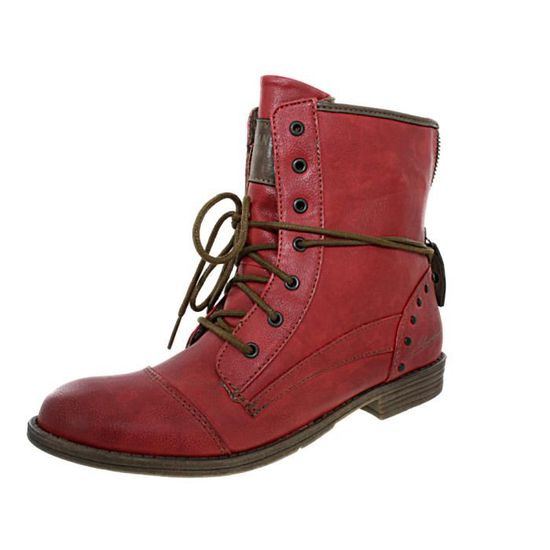 Lacets Vente Rouge Achat 508 1157 Bottines Mustang IYOXSnYdq