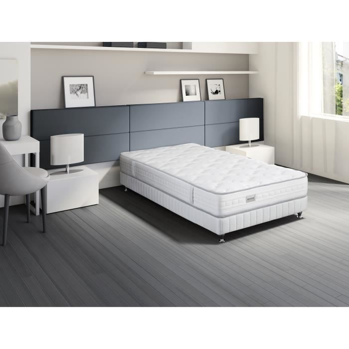 simmons matelas patio 90x190cm ressorts 22 cm ferme 500 ressorts sensoft 1 personne. Black Bedroom Furniture Sets. Home Design Ideas