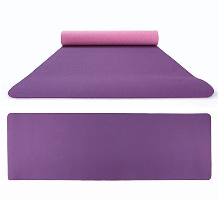 Tapis de yoga double couleur antidérapant TPE Tapis de fitness de sport en plein air écologique TAPIS DE YOGA 117