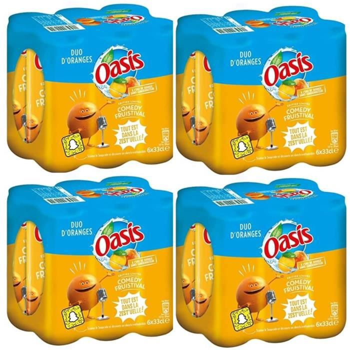 Boisson Oasis Orange PACK de 24 unités de 330ml, canettes slim