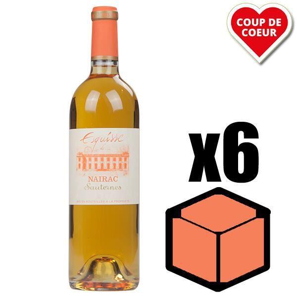 X6 Esquisse de Nairac 2002 75 cl AOC Sauternes 2ème Vin Vin Blanc Vin Liquoreux