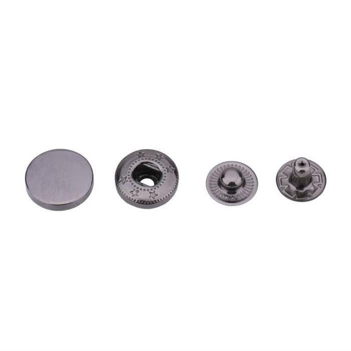 Weddecor 10mm Boutons Pression 4 Parties S Ressort Boutons-Pression Avec Alliage Casquette sans Couture Boutons Pour...