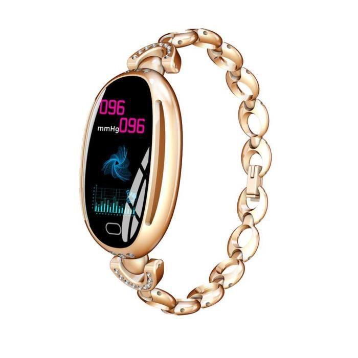 Intelligent Bracelet Fréquence Cardiaque Surveillance Imperméable À L'eau Santé Montre de Sport Podomètre Bracelet Calorie-Or