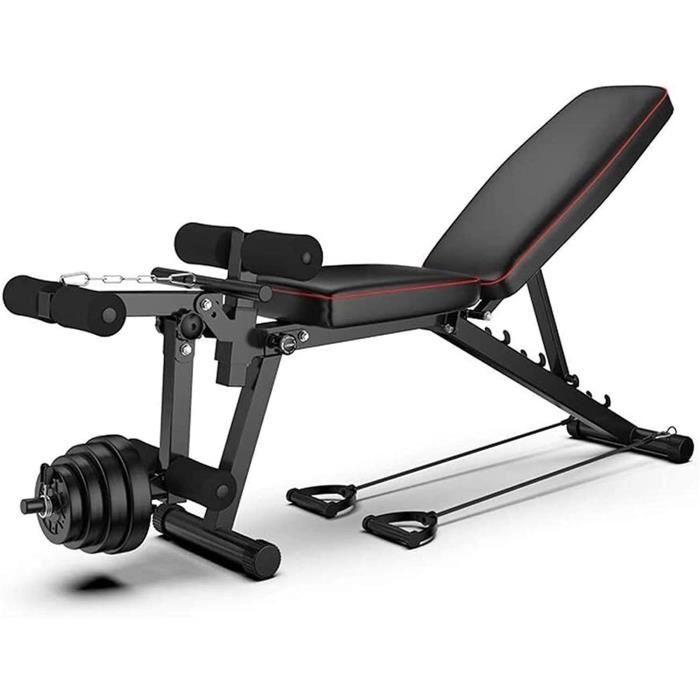 Banc de Musculation Pliable Banc de Muscu Pliable Banc de Poids Réglable Perméable à l'air Inclinable Exercice Gymnastique à Dom442