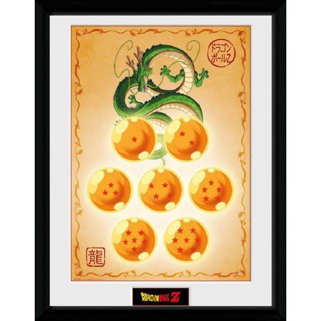 Dragonball Z poster encadré Dragon Balls