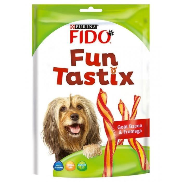 Fido Fun Tastix Sticks Goût Bacon et Fromage 150g (lot de 6)