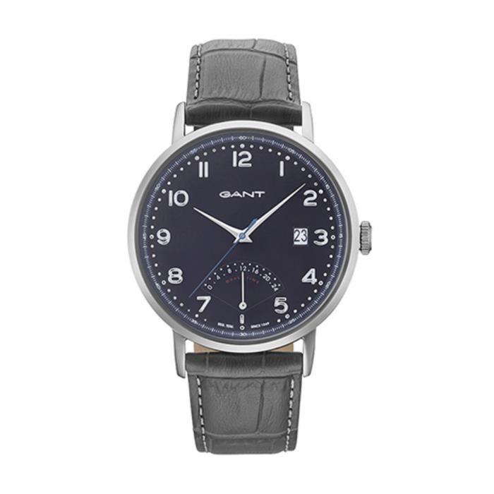 Montre Gant PENNINGTON pour homme bracelet cuir noir date et etanche