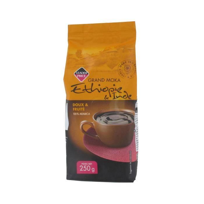 [Lot de 7] Café moulu grand moka Ethiopie et Inde - 250g par paquet