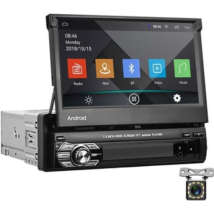 Android Autoradio 1 Din GPS CAMECHO Écran Télescopique 7- Écran Tactile Bluetooth FM Radio WiFi La Navigation Lien Miroir pour Télép
