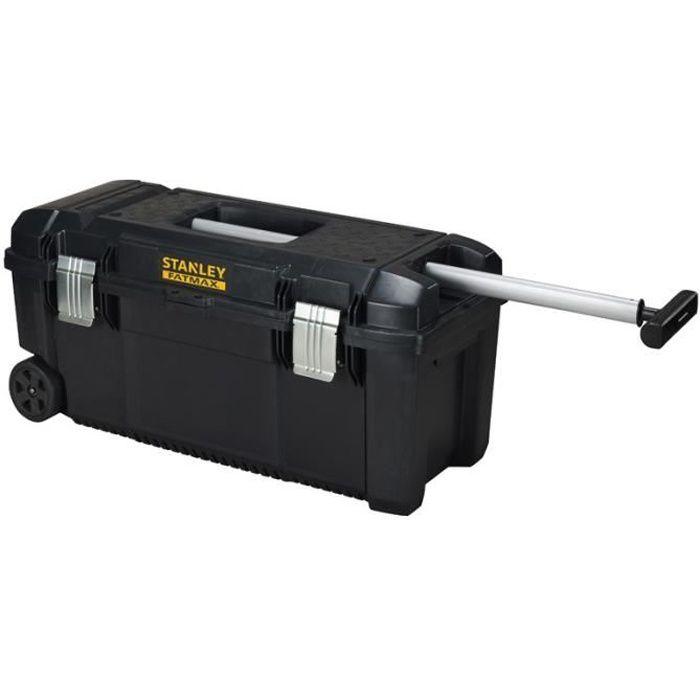 STANLEY Boite à outils étanche poignée télescopique et roulettes