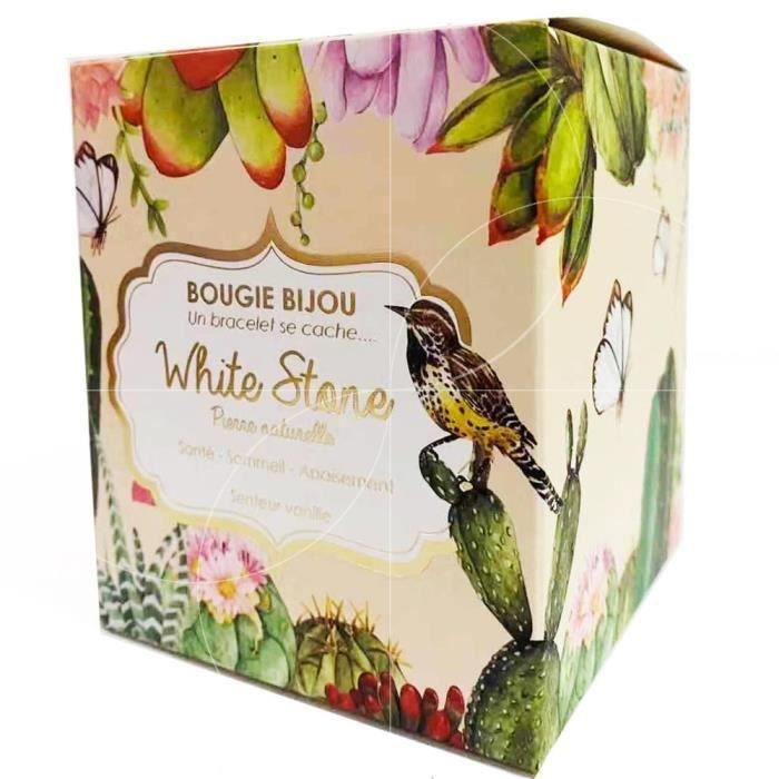 Stella Green - Bougie Bijou White Stone