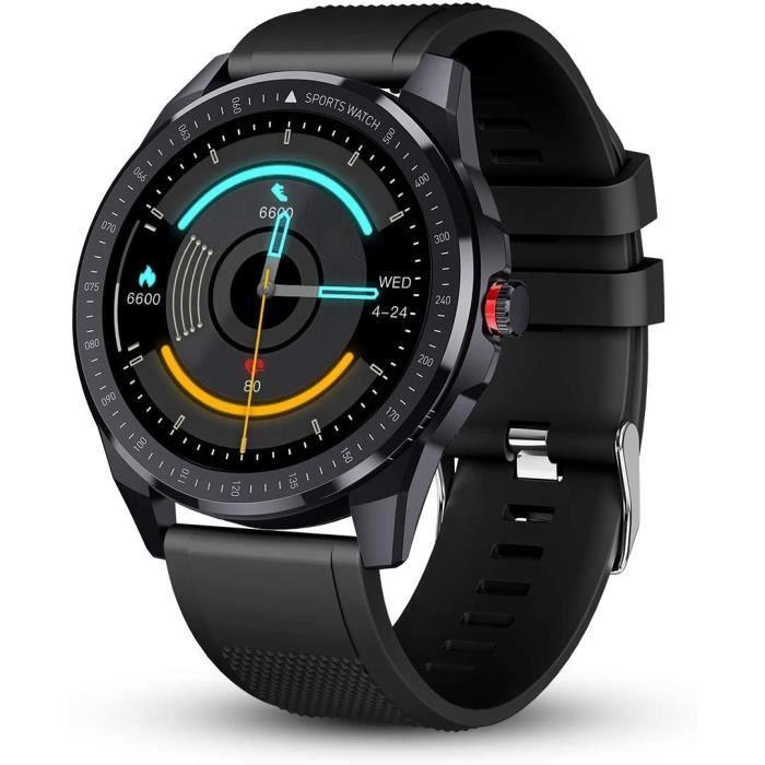 Montre Connectée Homme Etanche Smartwatch Écran Tactile Montre Bracelet Connecté Cardio Sport Tracker d'Activité Calorie