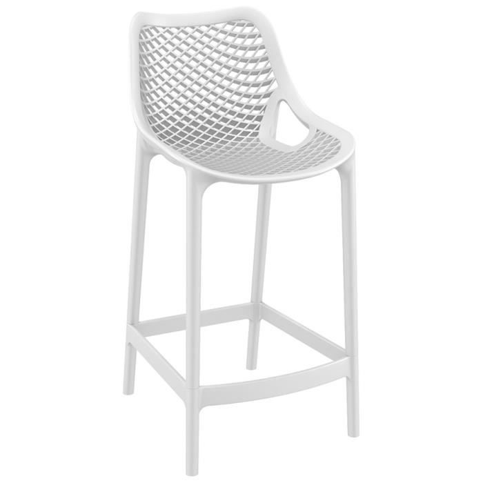 tabouret snack mi hauteur 39 brozer mini 39 blanc achat. Black Bedroom Furniture Sets. Home Design Ideas