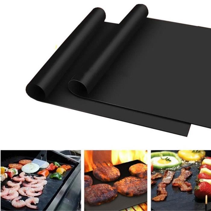 BBQ Barbecue Tapis Tapis Téflon Grill Film ofenmatte durée Grill Tapis 40x50cm Grand Set