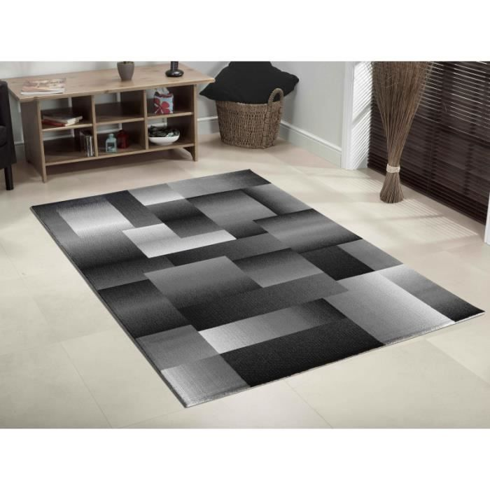 tapis moderne miami 6560 noir 160 x 230 cm achat vente tapis cdiscount. Black Bedroom Furniture Sets. Home Design Ideas