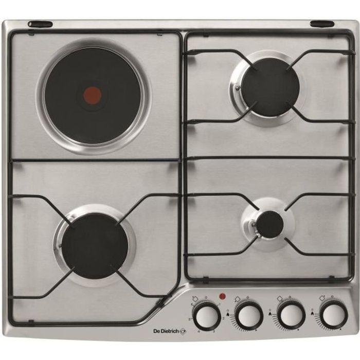 PLAQUE MIXTE De dietrich - table de cuisson mixte émail 4 feux