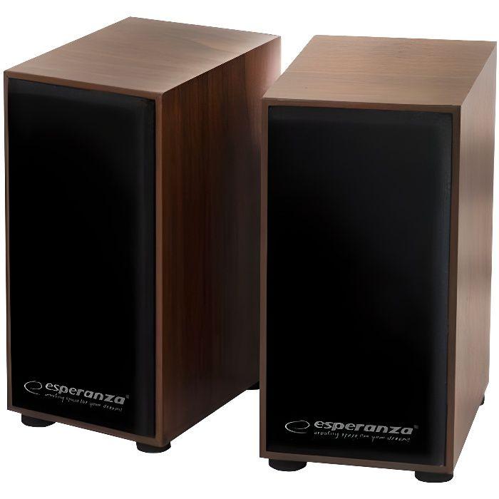ENCEINTES ORDINATEUR Esperanza EP122 FOLK Haut-parleurs pour PC 6 Watt