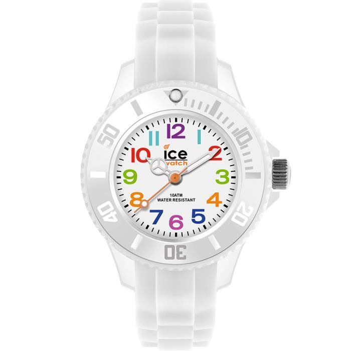 montre ice watch ice mini blanche bracelet sili blanc achat vente montre cdiscount. Black Bedroom Furniture Sets. Home Design Ideas