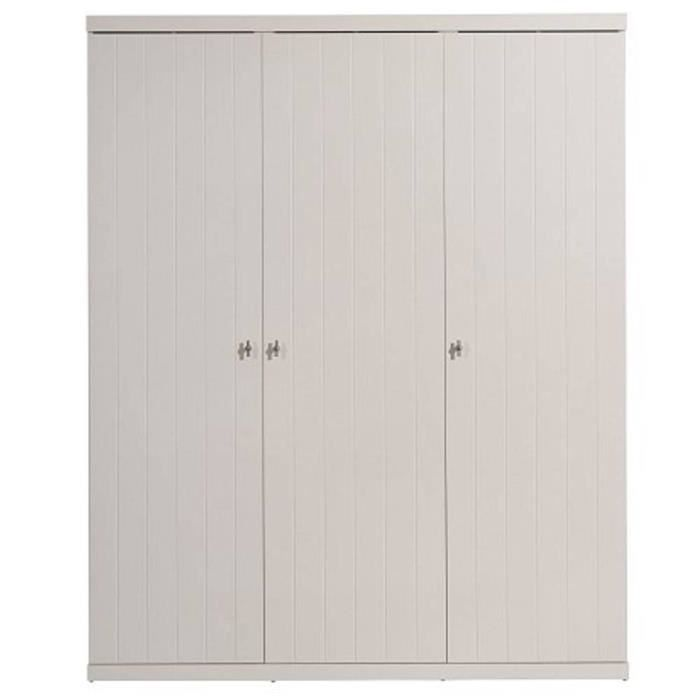 Armoire penderie robin 3 portes blanche achat vente armoire de chambre ar - Armoire penderie soldes ...