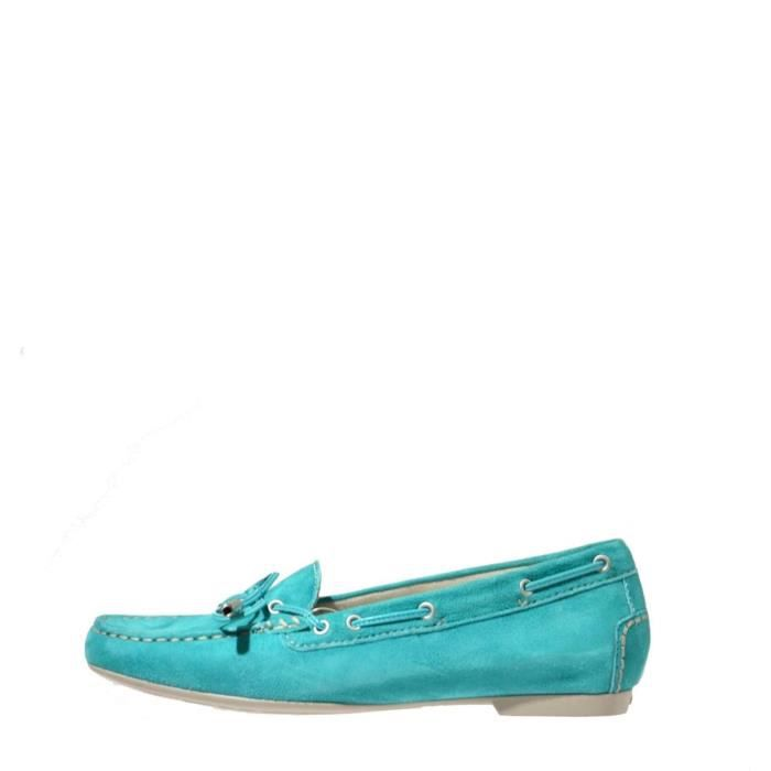 Stonefly Mocassin Femme Yellow Turquoise