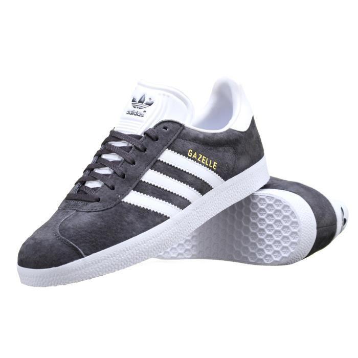 Basket Adidas Gazelle Bb5480 Anthracite Gris - Cdiscount Chaussures