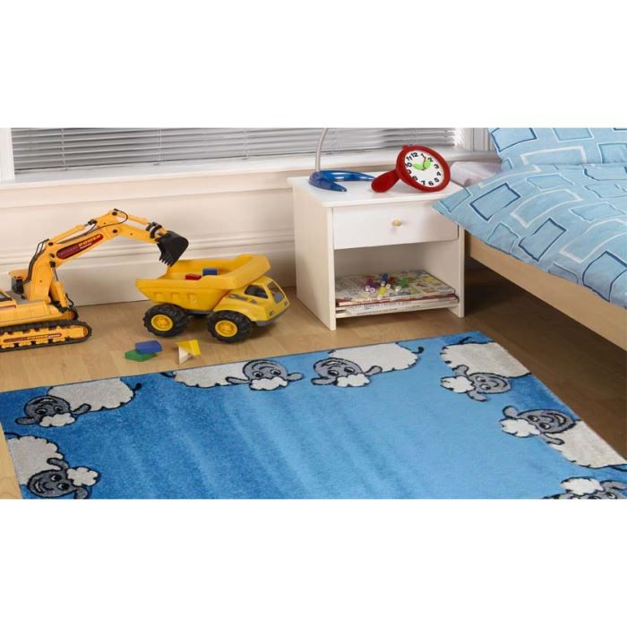 tapis enfant azur pas cher joy l102 cm 120x170 achat vente tapis cdiscount. Black Bedroom Furniture Sets. Home Design Ideas