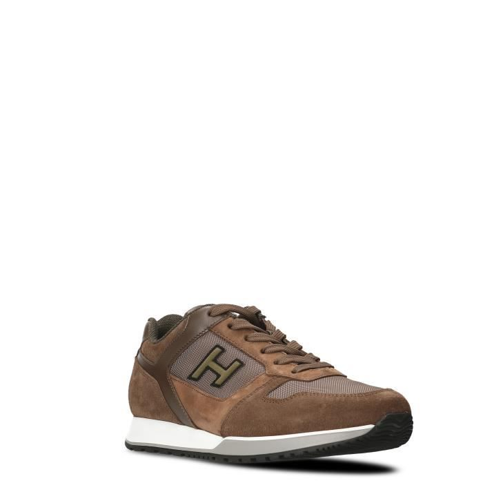 HOGAN HOMME HXM3210Y860HIS890Z MARRON SUÈDE BASKETS