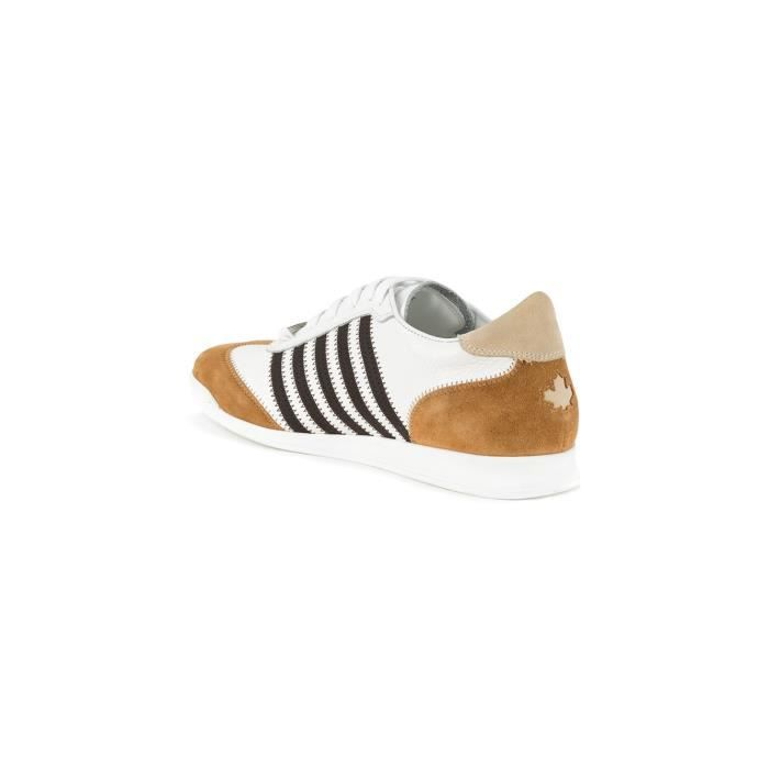 DSQUARED2 HOMME SNM041925100041M1368 BLANC CUIR BASKETS