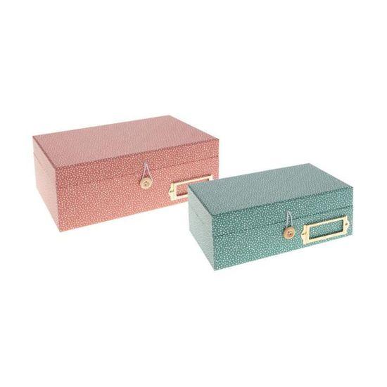 Atmosphera Lot de 2 boites de Rangement Collection Oc/éan