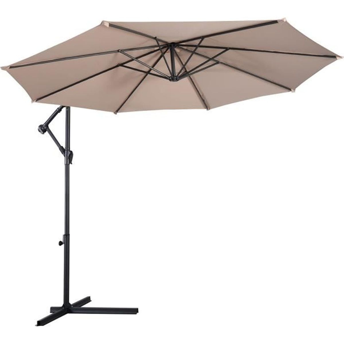 parasol excentr jardin 3m protection pare soleil manivelle achat vente parasol parasol. Black Bedroom Furniture Sets. Home Design Ideas