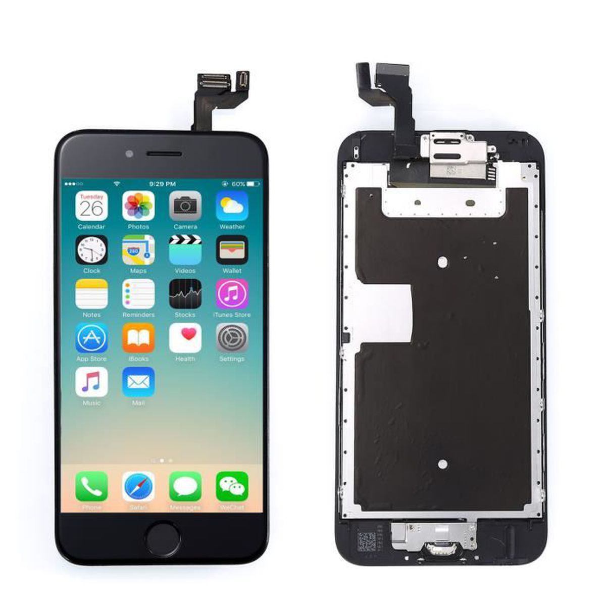 Oobest noir ecran complet pour iphone 6s 4 7 lcd vitre for Interieur iphone 7