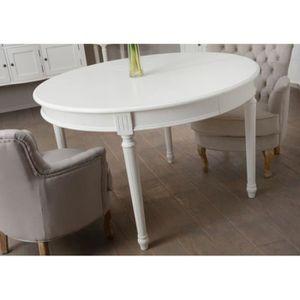 TABLE À MANGER SEULE Table à manger ronde + allonge blanche romantique