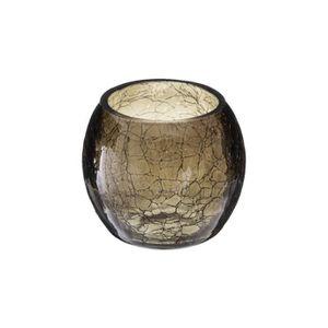 PHOTOPHORE - LANTERNE Atmosphera - Photophore en verre craquelé H 7 cm C