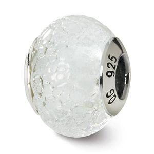 Rouge Vert Jaune Italien Murano Glass Bead .925 Sterling Argent Reflet Perles