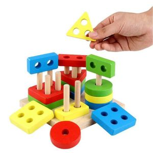 PUZZLE Jouet Enfant 2 Ans géométriques en Bois Puzzles po