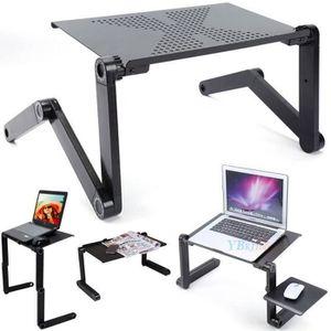 SUPPORT PC ET TABLETTE Table d'ordinateur 360° Rotation Réglable Portable