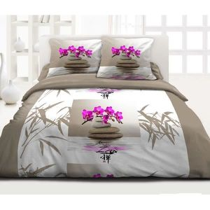 couette imprime zen achat vente couette imprime zen. Black Bedroom Furniture Sets. Home Design Ideas