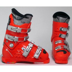 Chaussure ski occasion Salomon Junior course rouge Prix