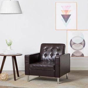 FAUTEUIL Fauteuil Revêtement simili-cuir Marron 75 x 70 x 7