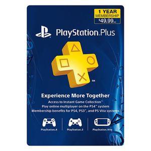 CARTE PRÉPAYÉE Carte Sony PlayStation Plus : abonnement de 12 moi