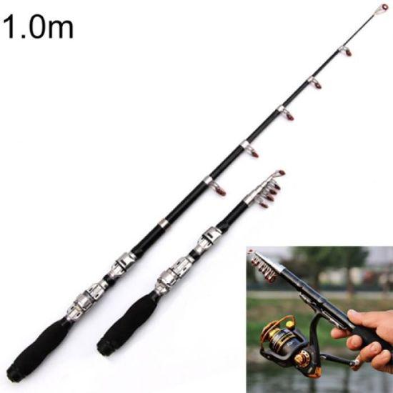 1.0M rétractable canne à pêche Mini Portable télescopique